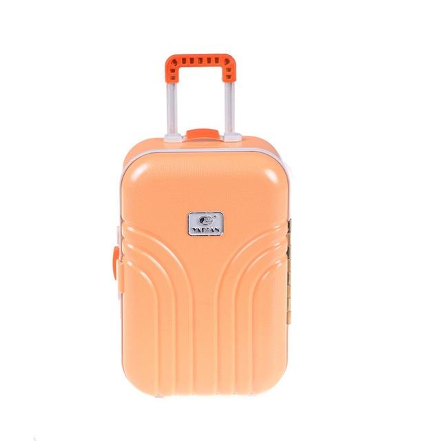19a298cb3ae Mini lindo equipaje caja de plástico rodante maleta para 18 pulgadas muñeca  Accesorios