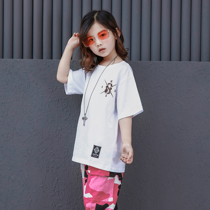 Niños blanco T camisa de camuflaje pantalones Hip Hop ropa para niños niñas  danza traje de baile de salón de baile desgaste en Salón de baile de La  novedad ... 160b8f2624a