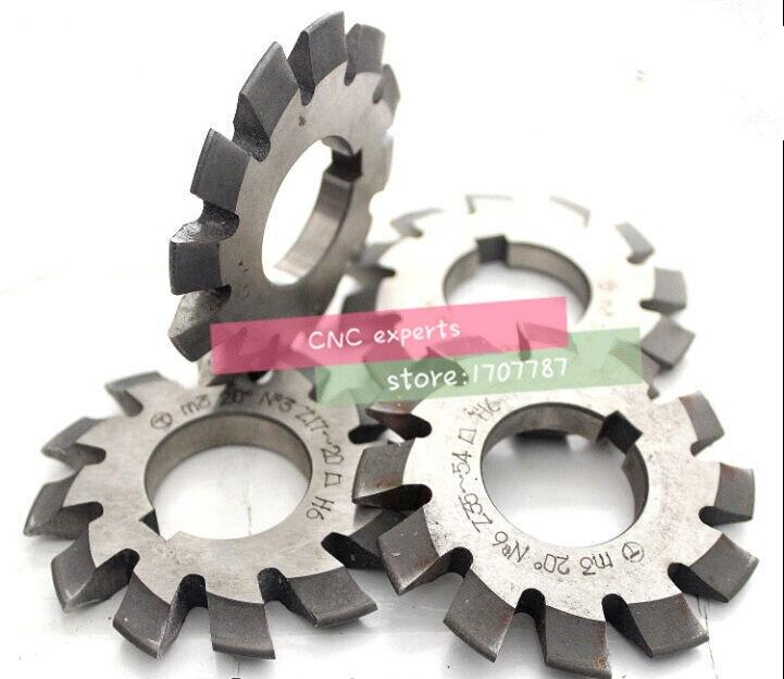 M0 3 M0 6 M0 8 modulus PA20 degrees HSS Gear Milling cutter Gear cutter 1