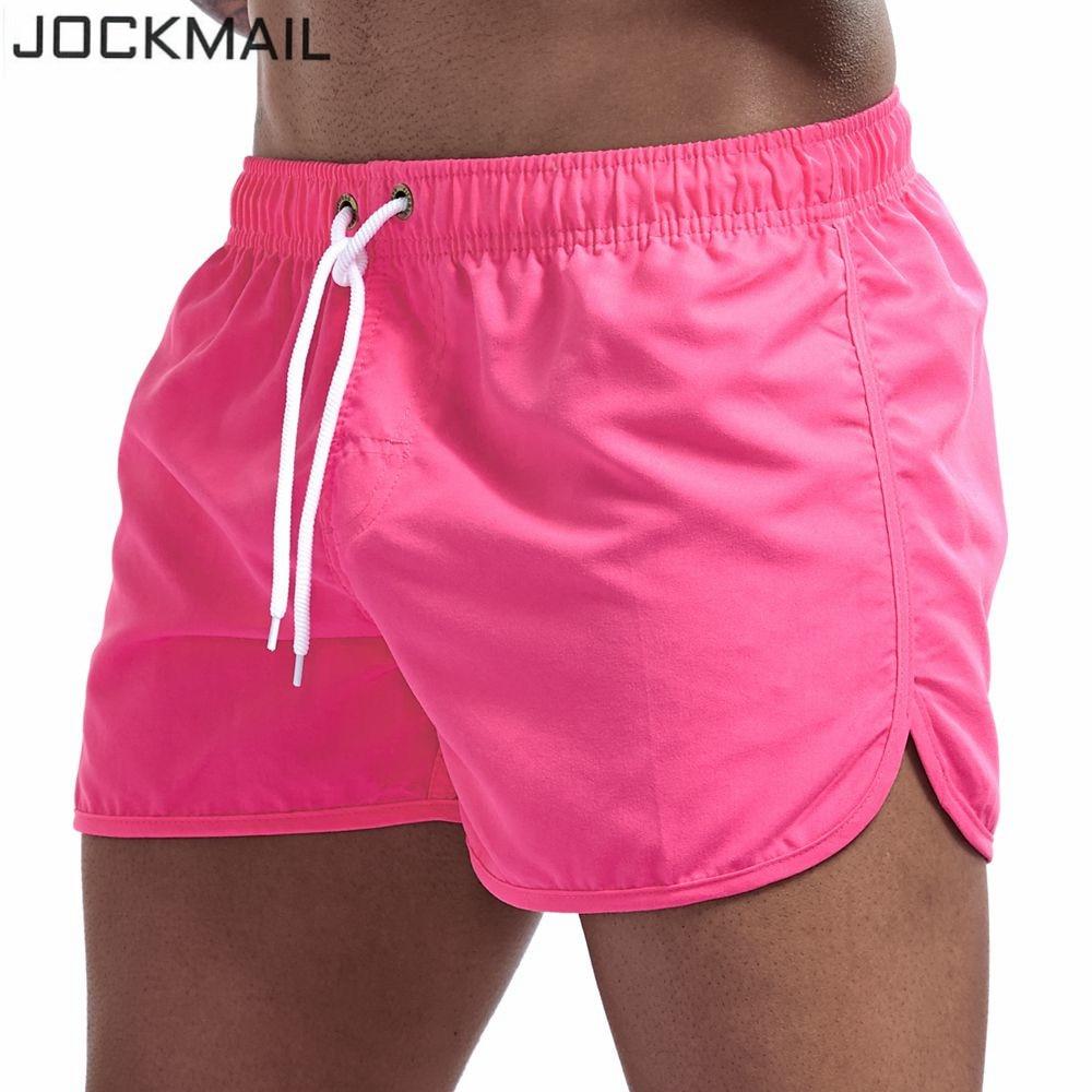 JOCKMAIL Quick Dry Men's Swim Shorts Surfing Beach Short Maillot De Bain Sport Bermuda Swimwear Men's Board Shorts Male Shorts