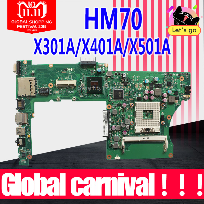 X401A Motherboard B820 B960 HM70 RAM For ASUS X501A X301A X401A laptop Motherboard X401A Mainboard X401A Motherboard test 100% for asus x401a x501a hm70 sljnv b820 b940 laptop motherboard rev2 0 ddr3 pga989 mainboard 100