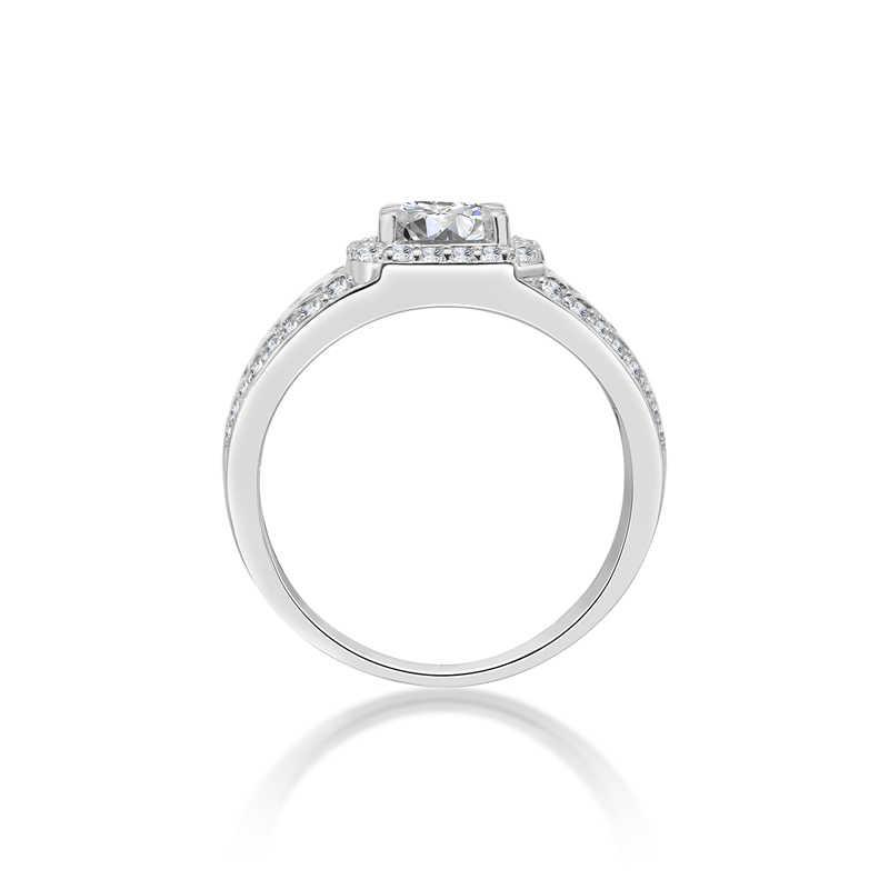 d100f0c87c2c ... AINOUSHI классические 925 пробы серебряные мужские часы Свадебные обручальные  кольца 1 карат круглой огранки мужские серебряные