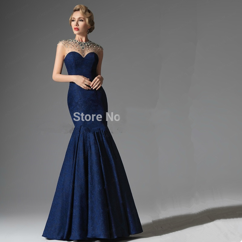 2016 Lace Mermaid Mother Of The Bride Dresses Groom: Fashion Navy Blue Lace Mother Of The Bride Dress 2016
