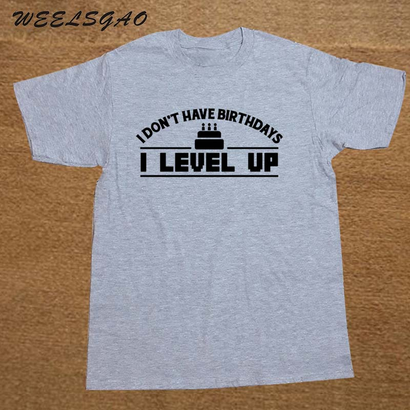 tienda online idea regalo de cumpleaos me level up impreso t shirt tee friki gamer enfriar slogan aliexpress mvil