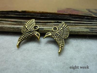 Zinc alloy pendant jewelry accessories diy handmade material charms A hummingbird 17 * 20mm