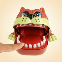 Funny Bulldog Big Mouth Bite Finger Game Novelty Gag Toys Gift Creative