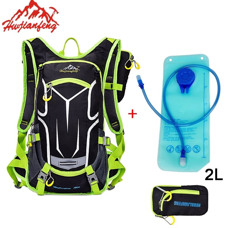 18L Ultralight Mountain Bike Bag Hydration Pack Waterproof MTB Water Climbing Cycling Bicycle Shoulder Backpack Rain Cover roswheel 22l ultralight cycling mountain bike bag hydration pack water backpack reflective bicycle bike hiking climbing pouch