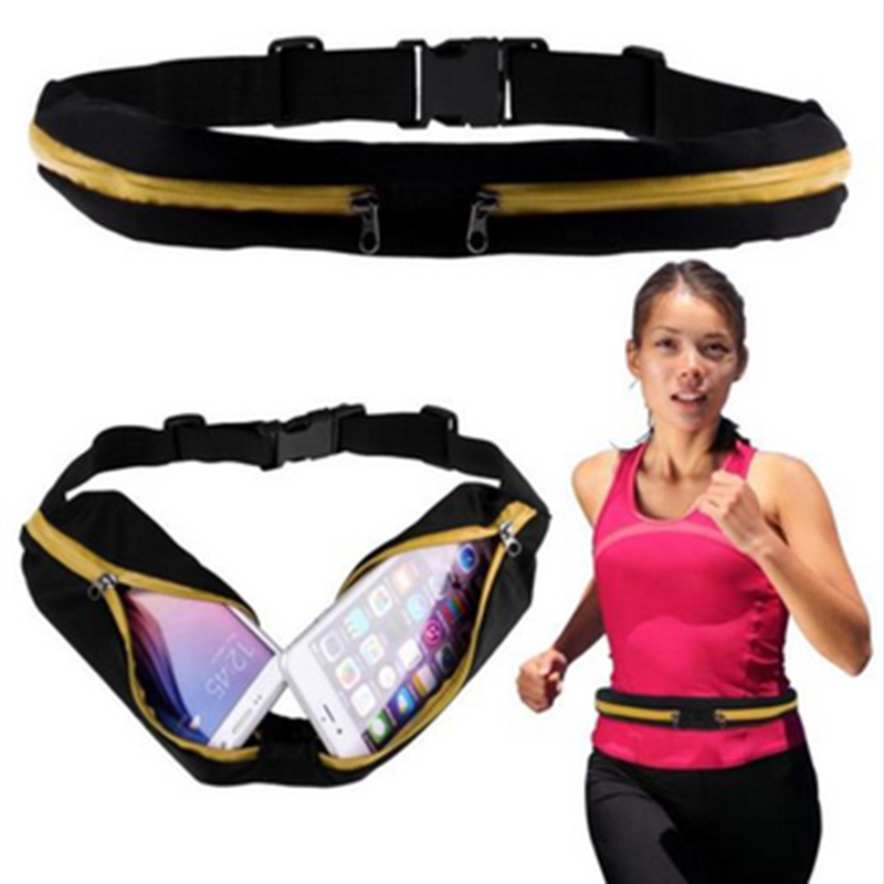 New Outdoor Running Waist Bag Waterproof Mobile Phone Holder Jogging Belt Belly Bag Women Gym Fitness Bag Lady Sport Accessories 18
