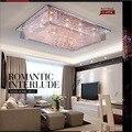 Modern LED  Chandelier's Light  Rectangular Crystal Chandelier Lamp For Living Room Dining Room