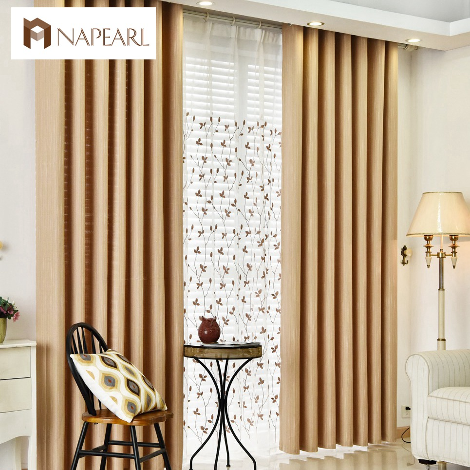 Aliexpress.com : Buy Linen curtains modern blackout living room ...