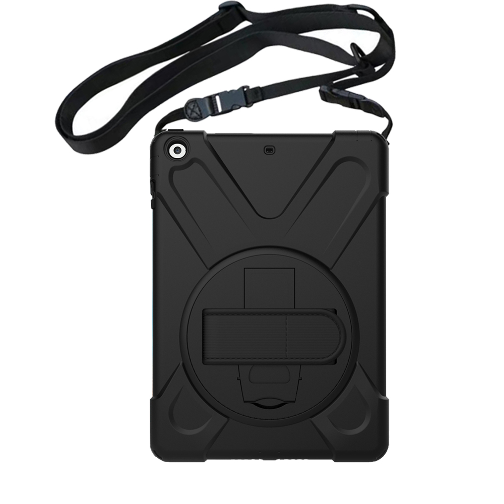 Case For Ipad Air 1 Retina Kids Baby Safe Armor Shockproof Heavy Duty Silicone Hard Case Cover With Hand Strap Shoulder Belt+Pen