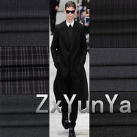 Free Shipping High End Worsted Cotton Thickening Suit Fabric Trousers T R Material Custom Tailored Pants