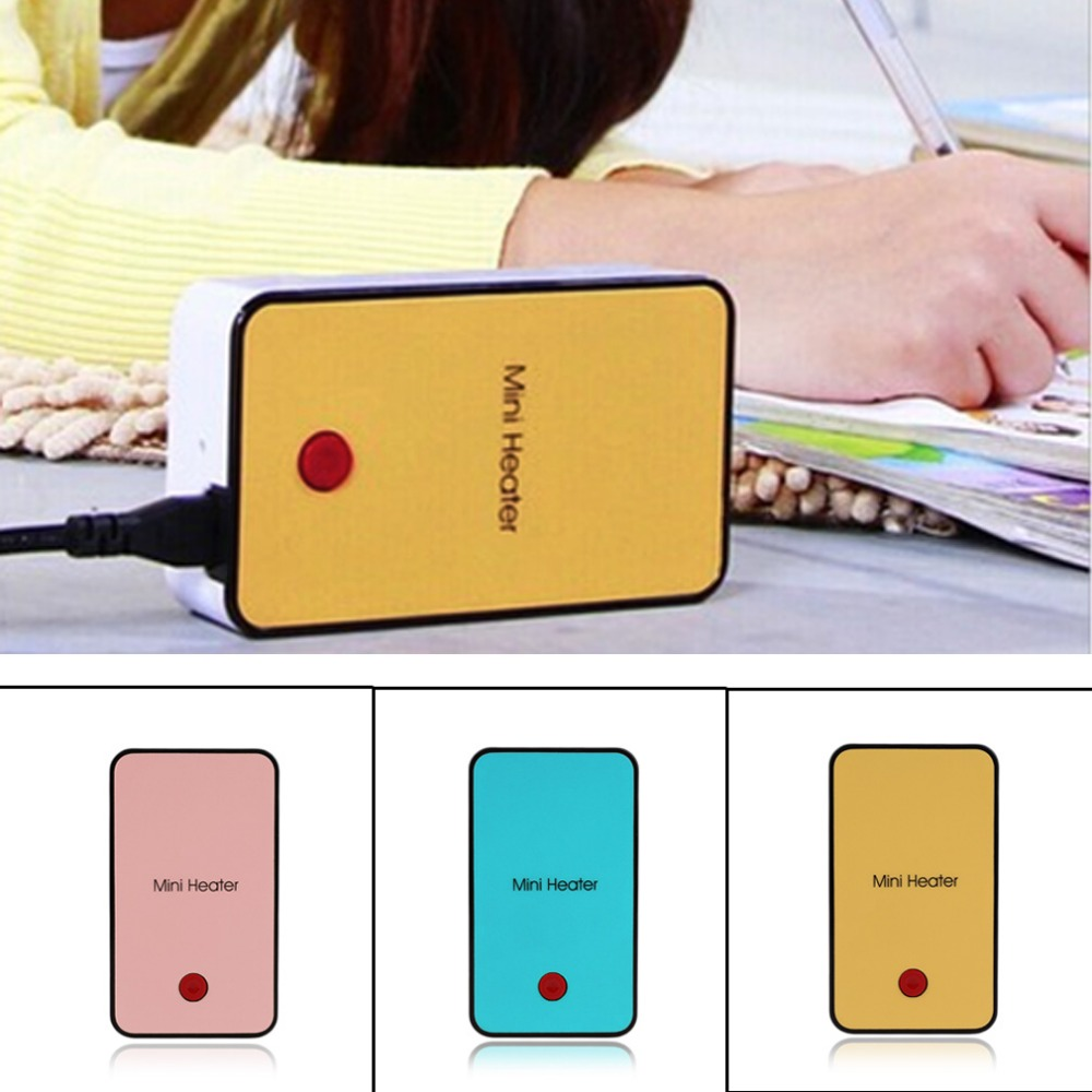 Hot Handheld Mini Heater Desktop USB Heater Electric Heater Portable Office-pink Durable