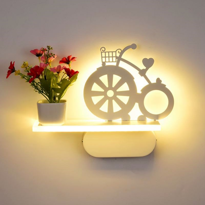 LED bedroom bedside wall lamp modern simple creative living room hallway balcony stairwell background wall lights AP8071459 Wall Lamps     -