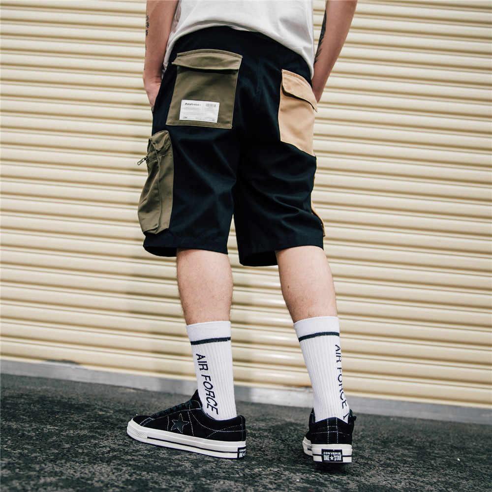 OSCN7 Повседневное хип-хоп Уличная печати свободные мужские шорты Карго 2019 Летняя мода High Street Бермуды мужские шорты 517