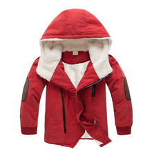 Boys Jacket Coat 2018 New Autumn Winter Children Clothing Girls Hooded Plus Thick Wool Outerwear Boys Clothes 4 6 8 10 12 Years недорого