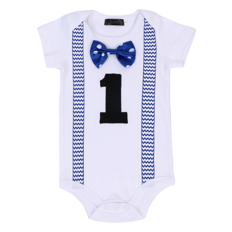 Newborn Baby Boy 1st Birthday Party Gentleman Romper Jumpsuit Suit Outfit Clothe