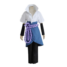 цена на Anime Naruto Men's Uchiha Sasuke Cosplay Costume Halloween Carnival Adult Performance Party Colthing