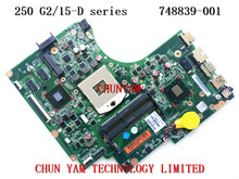 Original 748839-001 FOR HP 15-d 250 G2 series Laptop Motherboard NVIDIA 820M graphics 1GB Mainboard 100% Tested 90Days Warranty