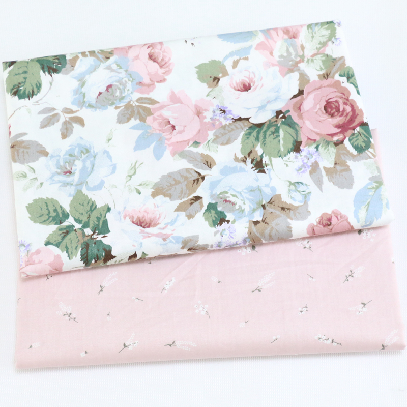 Floral Kids 100% Cotton Fabric,Patchwork Cloth,DIY Sewing Quilting Fat Quarters Material For Baby&Child(China)