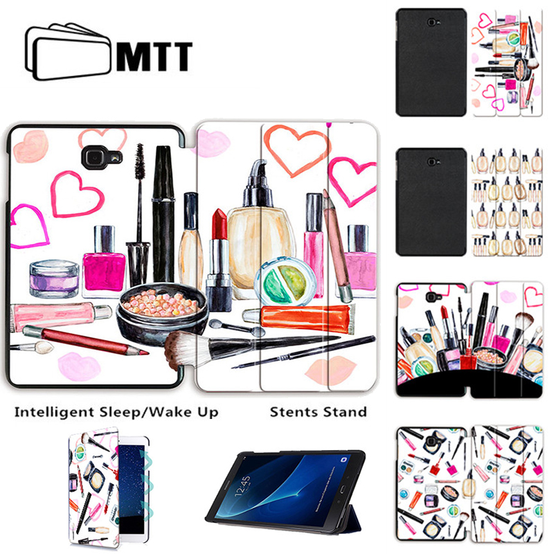 MTT Ultra Slim PU Leather Watercolor Makeup Cover For Samsung Galaxy Tab A 10.1 2016 T580 T585 T580N SM-T580 Case Tablet Funda