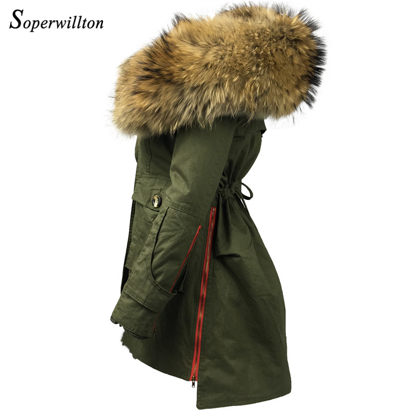 2018 New Winter Jacket Women Coat 3in 1 Real Large Raccoon Collar Hooded Jackets Warm Slim Long Fur Jacket Parkas For Women #J1 цена