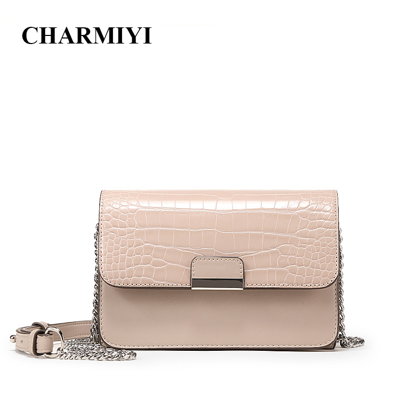 CHARMIYI Luxury Alligator Brand Women Messenger Bags 2018 Summer Chain Strap Shoulder Bag Fashion Small Ladies Crossbody Bags