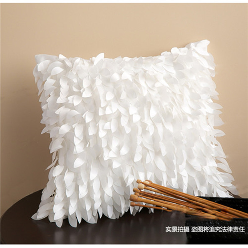 free shipping wholesale leaves pillow case for sofa cushion fashion peacock feather pillow cover party