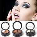 Cosméticos colorido three-color de sombra de ojos ahumado natural paleta sombra de ojos set maquillaje