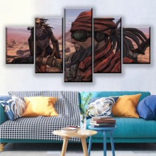 HD Printed Canvas Painting 5 Pieces Game Borderlands 2 Modular Picture For Living Room Wall Art Home Decorative Poster Framework