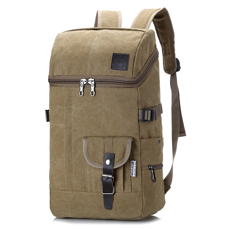 Multifunctional Large Capacity Canvas Backpack Men Mountaineering Travel Bag Trekking Rucksack Large Casual Back Pack Mens Gift