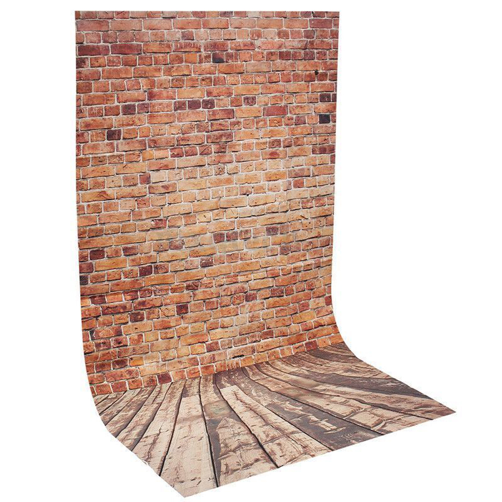 Brand New 3x5FT Brick Wall Photography Backdrop Retro Photo Wooden Floor Background For Photo Studio Backdrop Prop 3x5ft crack gray wall brick wall photography backdrop background photo studio