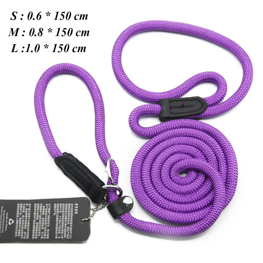 Dog Leashes For Small Dogs Collar Nylon Puppy Leash Collar Dog Leash For Large Dogs Basic Leashes Solid Rope (10)