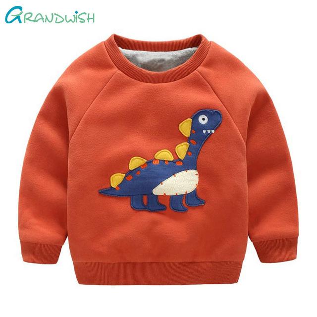 Grandwish espesar camisa de chico de dibujos animados impreso pullover camisetas sudaderas con capucha de algodón para niños chicos primavera ropa sudadera 18 m-8 t, sc843