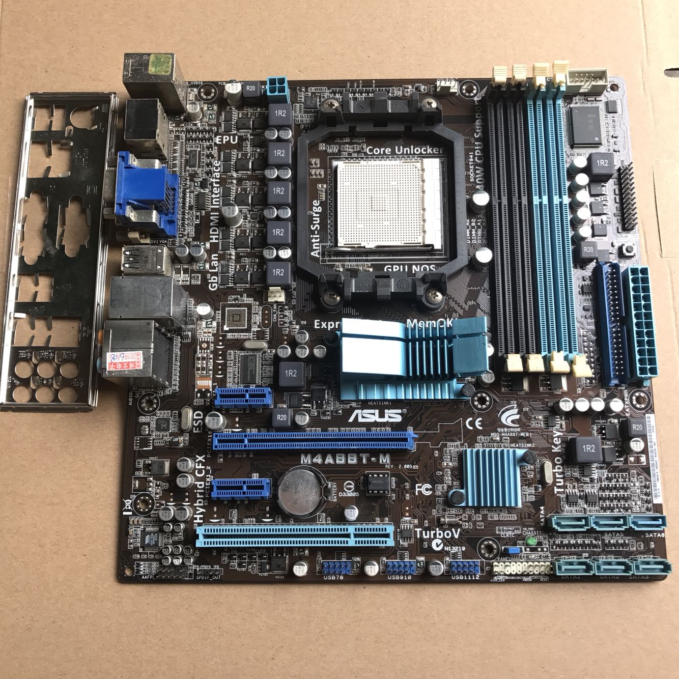 Used,for Asus M4A88T-M Original Used Desktop Motherboard 880G Socket AM3 DDR3 SATA II original used desktop motherboard for asus p5ql pro p43 support lga7756 ddr2 support 16g 6 sata ii usb2 0 atx