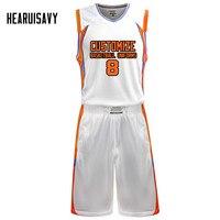 Hearuisavy Professional Custom Basketball Uniform Sets Men High quality team basketball Jersey Customize Basquete Training Suit