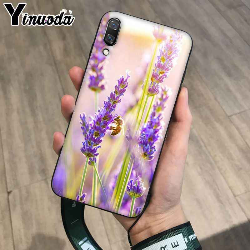 Yinuoda Simple lavanda púrpura flores patrón de teléfono para Huawei Mate10 Lite P20 Pro P9 P10 Plus Mate9 10 Honor 9 10 View 10