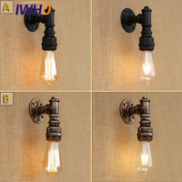 IWHD Loft Style Antique Water Pipe Lamp Retro Industrial Edison Wall Sconce Iron Vintage Wall Light Fixtures Indoor Lighting|vintage wall light|edison wall sconce|wall sconce -