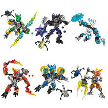 BIONICLE jungle Rock Water Earth Ice Fire figures 706 Building Block toys Compatible With Legoings 1pc