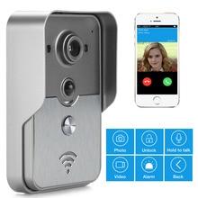 Móvil VDP WiFi Video de la puerta teléfono intercom timbre del Peephole cámara de visión nocturna de alarma Android IOS Smart Home