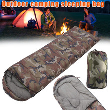 High Quality Hat Envelope Style Sleep Bag Outdoor Leisure Camping Break Camouflage Sleeping Bags ASD88