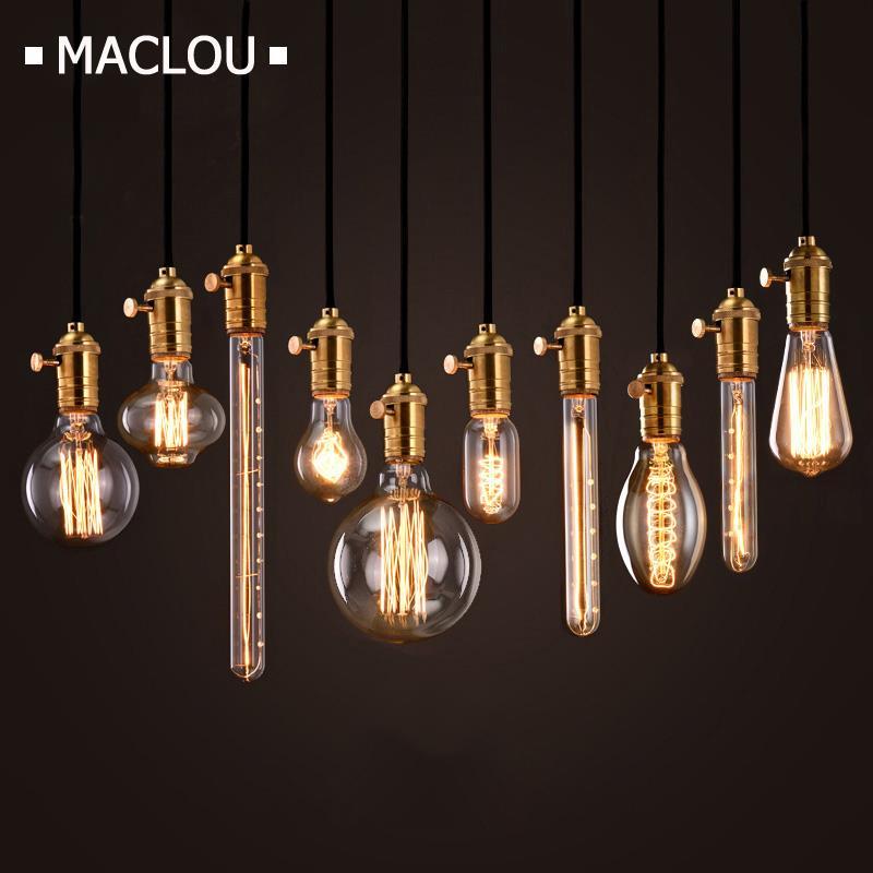 Retro Edison Bulb ST64 G80 E27 40W 220V Incandescent Bulbs For Decor Pendant Lights Indoor Ampoule Vintage Edison Filament Lamp
