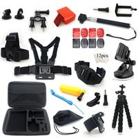 action camera accessories set for go pro hero 7 6 5 4 3 accessories for xiaomi yi for sjcam sj5000
