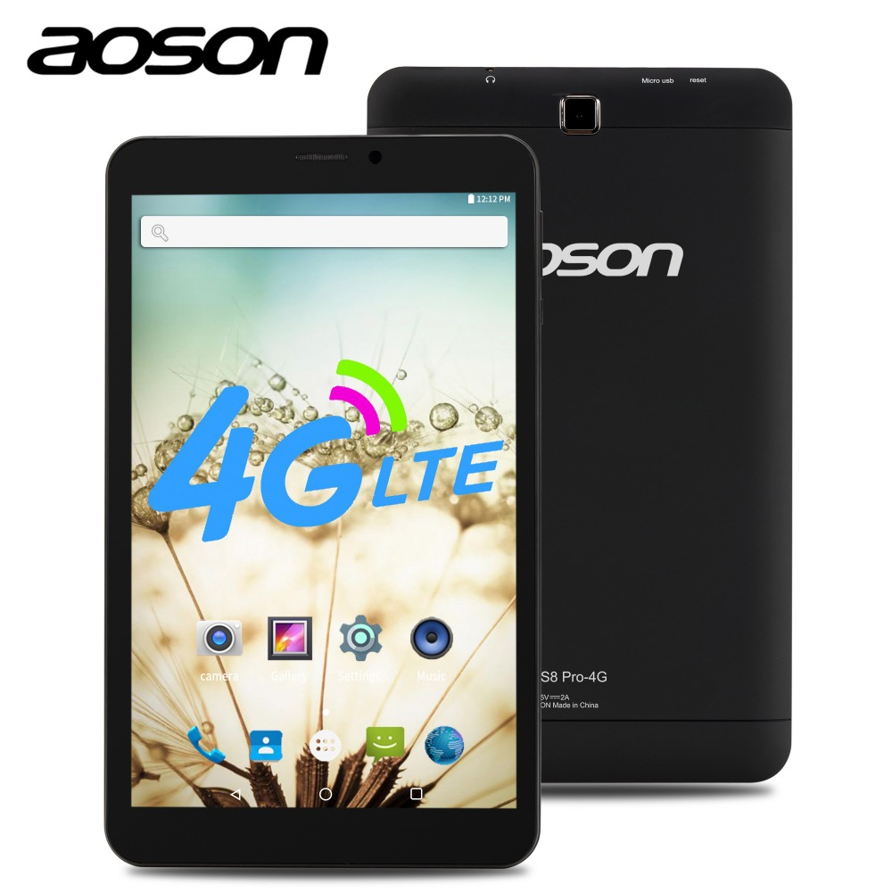 NEW!AOSON 4G LTE phone call Tablets HD 8 inch SIM CARD S8 Pro GPS Android 6.0 MTK8735B Quad-core IPS 800*1280 1GB+16GB mobile the cheapest 10 1 inch 4g lte gsm phone call tablet pc android 6 0 mtk6735 quad core 1280 x800 ips wifi bluetooth gps 1gb 16gb