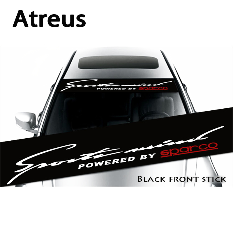 Atreus 1X Car Window Front Rear Windshield Waterproof Stickers For BMW e46 e39 e36 Audi a4 b6 a3 a6 c5 Renault duster Lada grant