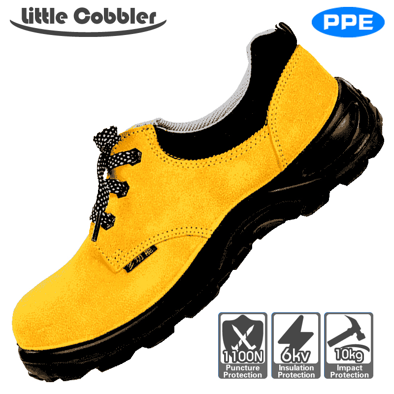 Men Women Safety Shoes Steel Toe Work Non-Slip High Temperature Resistant Puncture Proof Leather Polyurethane Rubber Sole french steel toe shoe covers protector visitor overshoes rubber sole non slip shoe woman safety work shoes for high heel