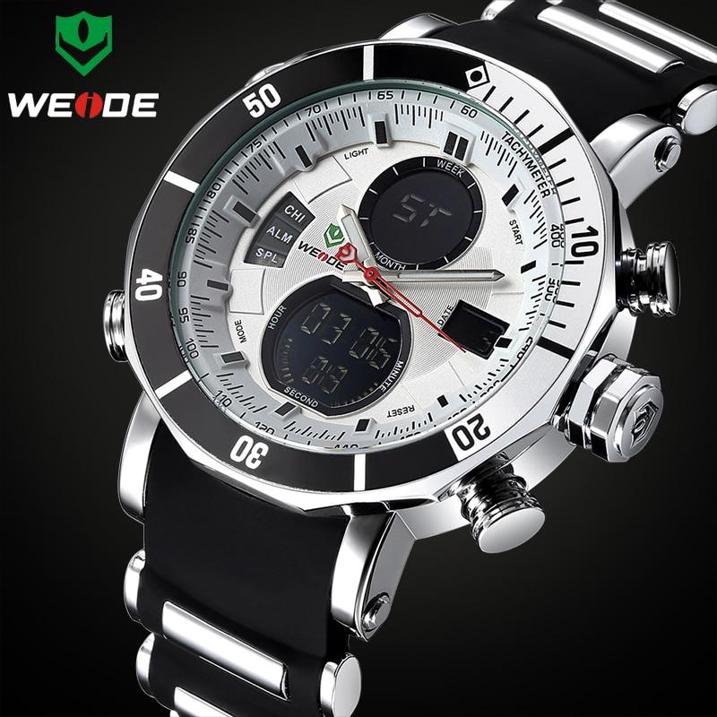 TOP Brand WEIDE Luxury Men Sports Watches Men's Digital Analog Clock Man Army Military Waterproof Wrist Watch Relogio Masculino