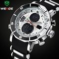 TOP Marke WEIDE Luxus Männer Sport Uhren männer Digital Analog Clock Mann Armee Militärische Wasserdichte armbanduhr Relogio Masculino-in Quarz-Uhren aus Uhren bei