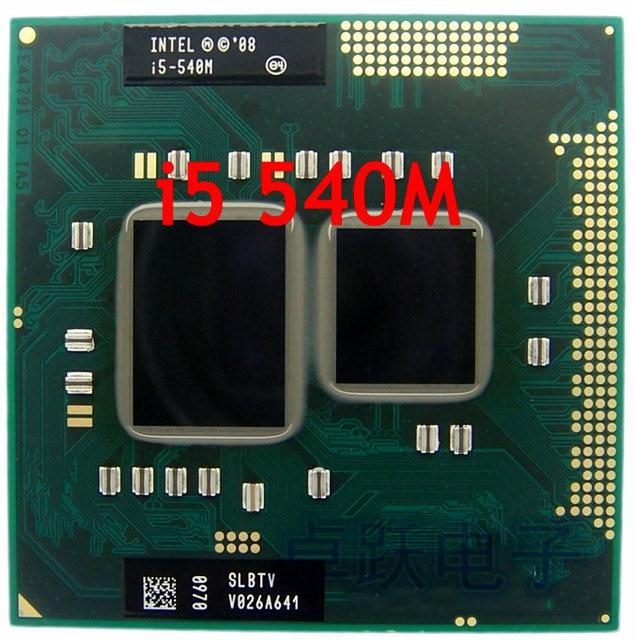 Ban đầu Intel CPU Laptop i5-540M CPU 3 M Cache 2.53 GHz đến 3.066 Ghz i5 540 M PGA988 Bộ vi xử lý Tương Thích HM57 HM55 QM57