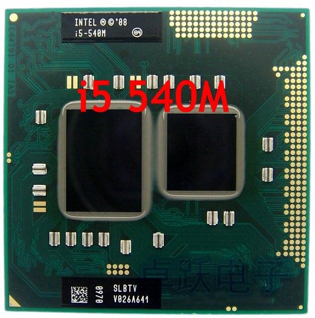 Original intel CPU máy tính xách tay i5-540M cpu 3 M Bộ Nhớ Cache 2.53 GHz đến 3.066 GHz i5 540 M PGA988 bộ vi xử lý Tương Thích HM57 HM55 QM57